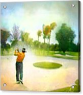 Golf At The Blue Monster In Doral Florida 02 Acrylic Print