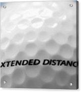 Golf Ball 1 - Extended Distance Acrylic Print