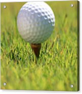 Golf Ball On Tee Acrylic Print