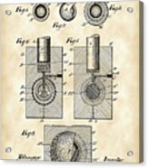 Golf Ball Patent 1902 - Vintage Acrylic Print