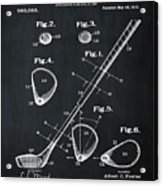 Golf Club Patent 1910 Chalk Acrylic Print