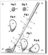 Golf Club Patent Drawing White Acrylic Print