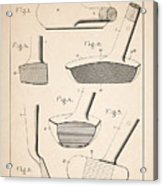 Golf Clubs Patent - Patent Drawing For The 1903 A. F. Knight Golf Clubs Acrylic Print