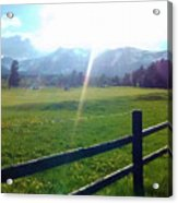 Golf Course Sun Rays Acrylic Print