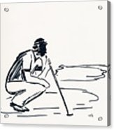 Golf IIi Acrylic Print by Winifred Kumpf