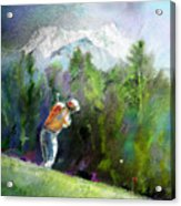 Golf In Crans Sur Sierre Switzerland 02 Acrylic Print