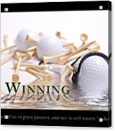 Golf Motivational Poster Acrylic Print