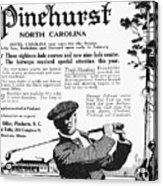 Golf: Pinehurst, 1916 Acrylic Print