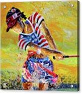 Golf Sandsation Acrylic Print