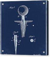 Golf Tee Patent 1899 Blue Acrylic Print