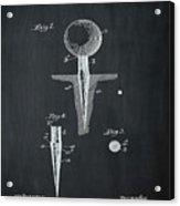 Golf Tee Patent 1899 Chalk Acrylic Print