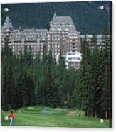 Golfer Heaven In Banff Acrylic Print