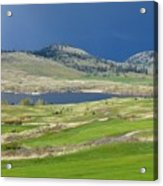 Golfing And Grazing Acrylic Print