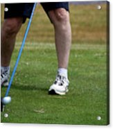 Golfing Driving The Ball In Flight Acrylic Print
