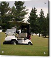 Golfing Golf Cart 01 Acrylic Print