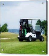 Golfing Golf Cart 03 Acrylic Print