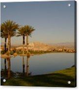 Golfing Oasis Acrylic Print