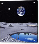 Golfing On The Moon Acrylic Print