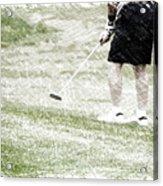 Golfing Putting The Ball 01 Pa Acrylic Print