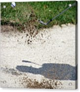 Golfing Sand Trap The Ball In Flight 01 Acrylic Print