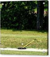 Golfing Sand Trap The Ball In Flight 02 Acrylic Print