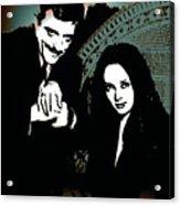 Gomez And Morticia Addams Acrylic Print