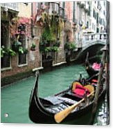 Gondola By The Restaurant Acrylic Print