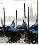 Gondole In Bacino 2078 Acrylic Print