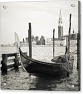 Gondola In Bacino S.marco S Acrylic Print