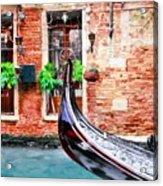Gondola In Venice Acrylic Print