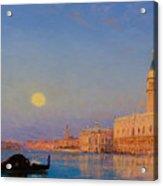 Gondola On St. Mark's Basin. Venice Acrylic Print