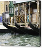 Gondola Pier Acrylic Print