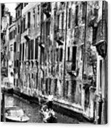 Gondola Ride In Venice Acrylic Print