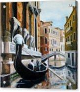 Gondola Ride On Venice Italy Canal Acrylic Print