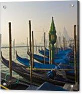Gondolas At San-marco, Venice, Italy Acrylic Print