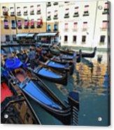 Gondolas In Orseolo Basin Venice Acrylic Print