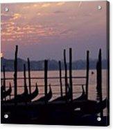 Gondolas In Venice At Sunrise Acrylic Print