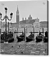 Gondolas Of San Marco Square Acrylic Print