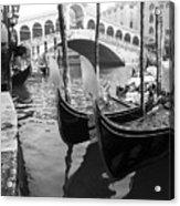Gondole At Rialto Bridge Acrylic Print