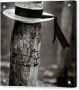 Gondolier Hat Acrylic Print by Dave Bowman