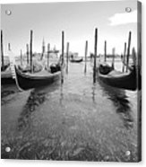 Gondolier In The Distance Acrylic Print