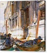 Gondoliers Siesta 1904 Acrylic Print