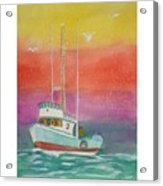 Gone Fishing At Midnight  Acrylic Print