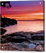 Gone Fishing At Sunset Acrylic Print