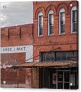 Gone Grocery 5 #vanishingtexas Street Scene Rosebud Texas Acrylic Print