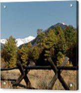 Good Fences Make Good Neighbors .... Robert Frost Acrylic Print