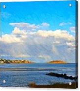 Good Harbor Clouds And Sun Acrylic Print