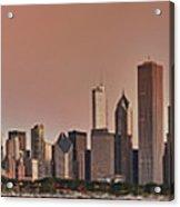 Good Morning Chicago Panorama Acrylic Print