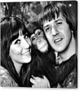 Good Times, Cher, Sonny Bono, On Set Acrylic Print