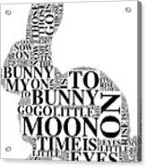 Goodnight My Bunny Acrylic Print